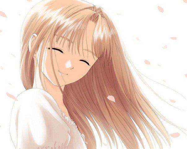 картинки улыбающихся аниме девочек