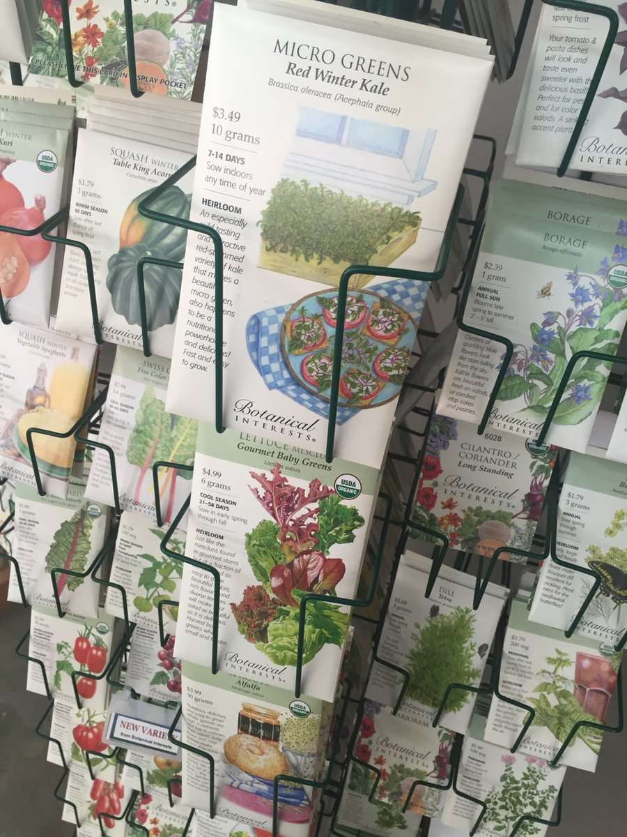#groundchat has us staring at the @BotanicalSeeds rack, looking for a future snack https://t.co/mJtWu90coh