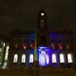 Check out Waverley building bathed in light tonight for #LightNightNotts #NTU #NTUart https://t.co/hSX9YmjgMO