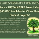 $40,00 available for Chico State Student Projects! #chicostate #sfac #sustainability #grantmoney https://t.co/2wa0EtOXEC