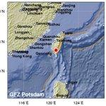 (暫定速報) 【台湾でマグニチュード6.2の地震】   震源の深さは16km、日本時間04:57ごろ。 データby 独GEOFON https://t.co/TQH1cpYthU #海外の地震 https://t.co/8aNNNRyMLh
