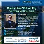Seats are available at Inspire Burlington featuring @BrentToderian on Feb. 11. Reserve: mayor@burlington.ca. #BurlON https://t.co/L9MnaWIC1L
