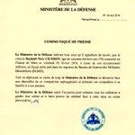 Communiqué de #Presse du @MDefenseHT suite à lincident survenu ce vendredi 5 février 2016, à Port-au-Prince. https://t.co/U1AXy5nKCX