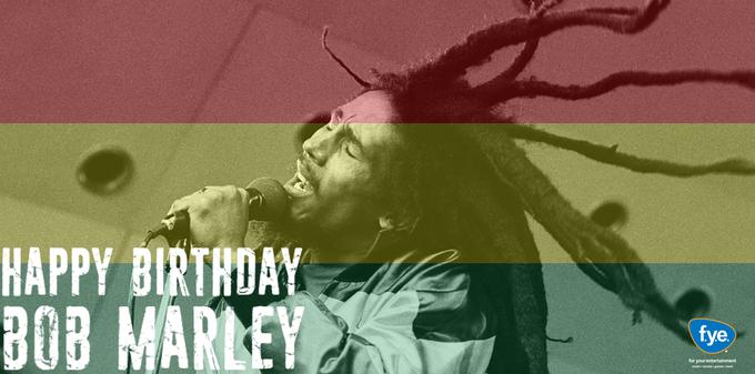 Today we celebrate a legend! Happy birthday Bob Marley! [