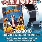 A vos agendas ! Ciné dimanche ce 7 février à lEspace 1180 à #Uccle. PAF: 2€. #Cinema #kids #Bruxelles https://t.co/ntgBQseJtd