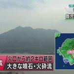 【桜島 火口から2キロ 噴石や火砕流に警戒を】きのう桜島の昭和火口で爆発的な噴火が起き、気象庁は桜島の噴火警戒レベルをレベル3の「入山規制」に引き上げました。(4:01更新)https://t.co/orkAEzuZUf https://t.co/Y0QtQUHLY4