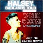 ALERT #Phoenix #Halsey fans‼️ WIN #BadlandsTour @ComericaTheatre tix 5:35pm w/ @KADENRADIO https://t.co/ds640ldQPH https://t.co/x8hrfQN93g