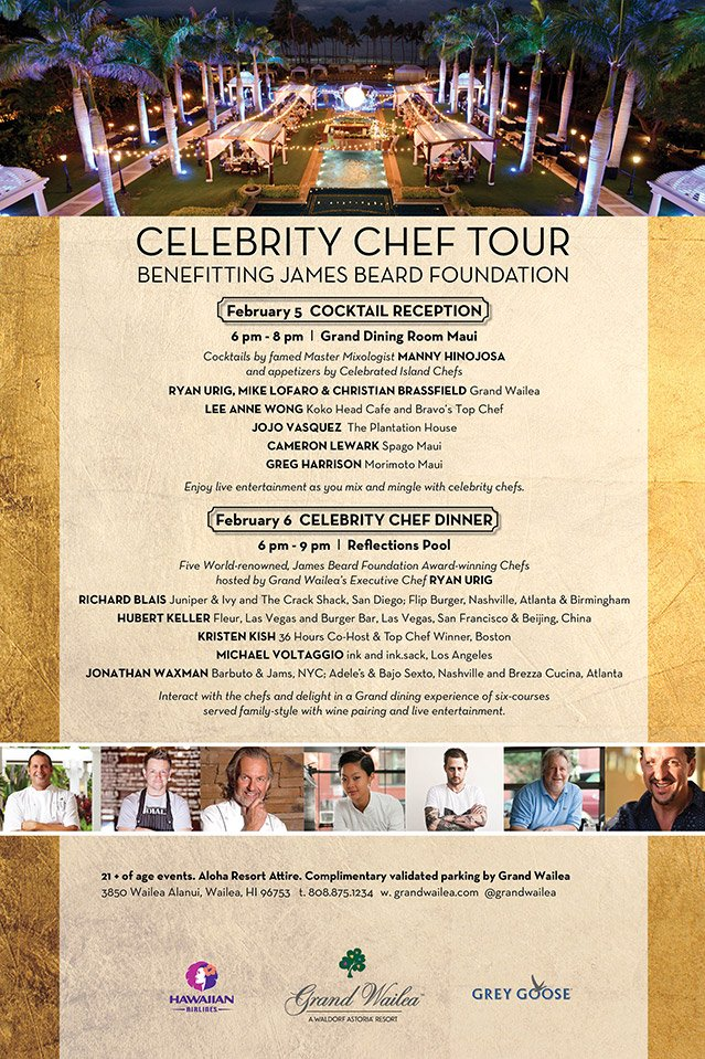 Dine with an all-star lineup of celebrity chefs this weekend on Maui!