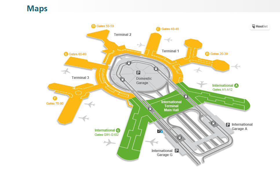 Navigating SFO? See map to find your destination.