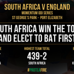 Good morning and welcome to coverage of the second #MomentumODI between SA and England #SAvEng #ProteaFire https://t.co/KpWezPHGCS