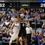Spurs hand the Mavs their largest halftime deficit in team history. https://t.co/OFcrEMZd40