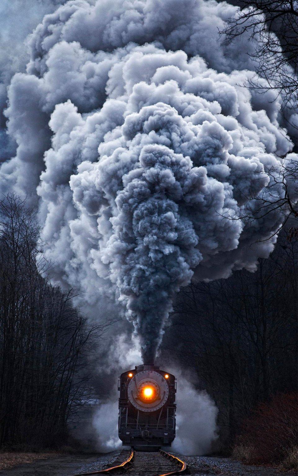 Powerful Train Locomotive | Photography by ©Matthew Malkiewicz https://t.co/Y9ZApU9oI8