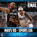 FINAL: Mavs 90 Spurs 116. Anderson & Charlie V each end with 13pts. #DALvsSAS https://t.co/8Fl724me0G