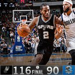 Spurs led by as many as 39 points and finish off the Mavs, 116-90. Kawhi Leonard: game-high 23 Pts. https://t.co/Bcrcx5Azm5