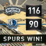 #Spurs dominated the #Mavs and won easily, 116-90. Kawhi led all scorers with 23. Aldridge had a double-double. https://t.co/vv50C6hyK8