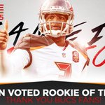 BREAKING: Jameis Winston has been voted by the fans as the NFLs Rookie of the Year!  https://t.co/nF9gJ0DDwr https://t.co/o5eTIp8mTm