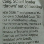 Upper caste dominated Congress throws out a leader from the meeting just because he is Dalit. #AntiDalitCongress https://t.co/s9z63ufgYe