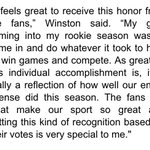 Bucs QB Jameis Winston has been named Pepsi NFL Rookie of the Year. Heres a statement from Winston: https://t.co/wsHTmtX59c