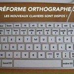 #ReformeOrthographe, les nouveaux claviers bientôt disponibles Réservez-les à lAcadémie des 9... #JeSuisCirconflexe https://t.co/Rjdwh9s0h5