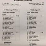 Die Mannschaftsaufstellung des #VfBzwei bei @fwk_1907 mit #Cacau in der Startelf. https://t.co/WLUHWs8Rjj