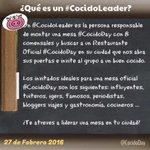 Buscamos #CocidoLeaders en España y fuera de España que quieran participar en la III Edición #CocidoDay  RT gracias https://t.co/VHlOQaJsln