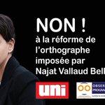 Pétition contre la réforme de l'orthographe imposée par Belkacem https://t.co/91GZaMSv8T https://t.co/qtERM5eBa3