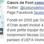 Ils vous font vivre le foot féminin : Cœurs de foot reconnu par l@UEFAcom_fr Merci à vous ???? https://t.co/i1ZsYV1yav https://t.co/oOLvEkPdYk