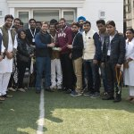 Rahul Gandhi with the social media team of Indian Youth Congress https://t.co/4luIxf3iHo