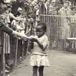 An African child being fed like a monkey in a Human Zoo. https://t.co/46CHo05XmQ