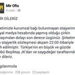 İçmimarın mensubu olduğu şirket Beşiktaş camiasına hitaben özür mesajı yayınladı. https://t.co/v6PD7Hkovg