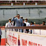 This is how IFR Brand Ambsdr & Bollywood star @akshaykumar entered Presidential Yacht for #IFR2016 https://t.co/uCy7UnaEum