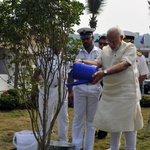 PM @narendramodi planting a sapling. https://t.co/F9oT8GukDZ