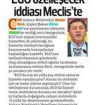 EGO iddialarımız Hürriyetin Ankara ekinde. @06melihgokcek soruyorum : EGOyu özelleştirecek misin? Yanıt bekliyorum https://t.co/0ViR9Sj2Pk
