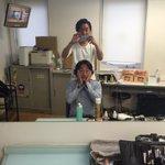 スタジオアルタにて #fctokyo 開幕トークイベントでした。メイクする石川ナオ選手とメイクしたワカチコ選手。 #東京ドロンパJマスコット総選挙 https://t.co/n7BULiotIn