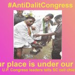 Your place is under our feet U.P. Congress leaders tells SC cell chief #AntiDalitCongress https://t.co/wv8BN2MZTk https://t.co/3cG5Ynr8LY