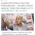 Just 2 days back, Nandita Das mocked @narendramodi govt (On Padma award), Anupam Kher & supported Pakistan.. https://t.co/WcHgEQmqTS