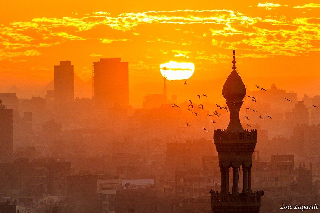 Sunset in Cairo from Al Azhar Garden | Photography by ©Loïc Lagarde https://t.co/qfrzHLRDyf