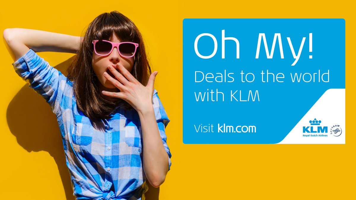 Oh My! Deals to the world with @KLM from Manchester.