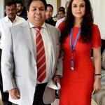 IPL chairman Rajiv Shukla with Kings XI Punjab co-owner @realpreityzinta at the IPL players auction in Bengaluru https://t.co/5OasgfVfVC
