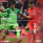 Full-time: Its all over at Anfield as Sunderland come from two goals behind to claim a 2-2 draw with #LFC https://t.co/bcJTRIgo2u