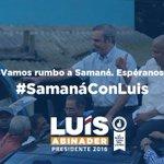 Esta tarde estaré en #SamanaConLuis. ¡La Ola del cambio se siente en todo el país! https://t.co/gjS4dAjFsL