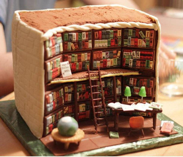 Baker creates cake library, plus other amazing lit-inspired bakes #NationalLibrariesDay  https://t.co/eqq9jCrw96