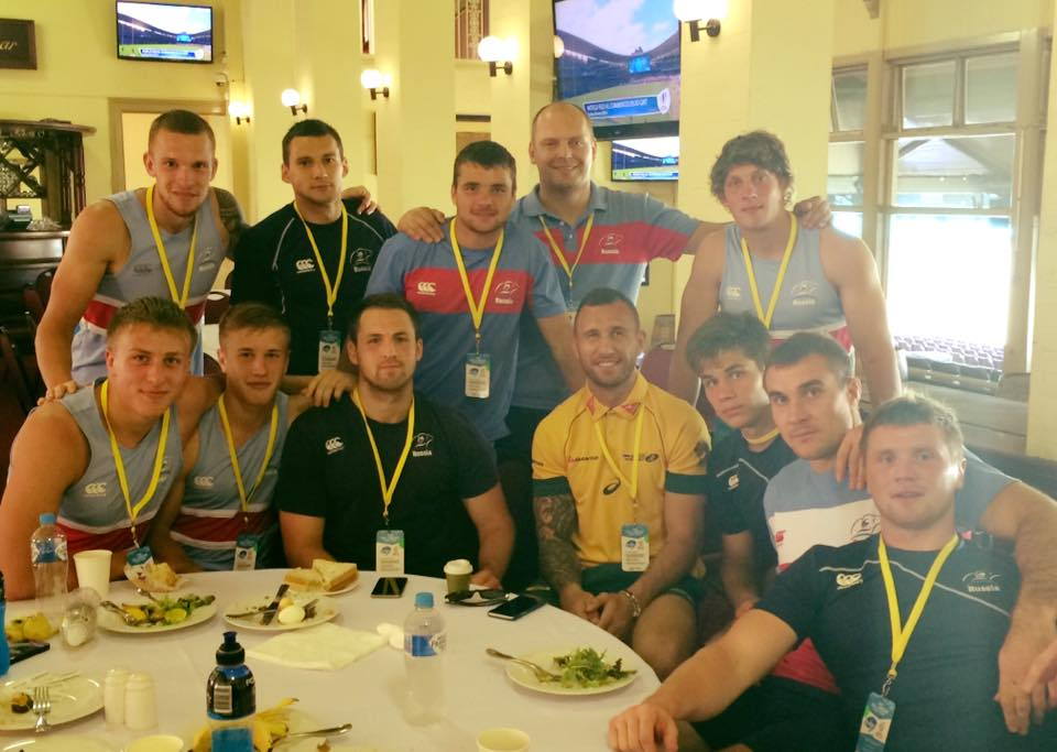 M7: At @Sydney7s with our best Russian language student - @QuadeCooper #KakDelaQuade https://t.co/69CCaZMljf