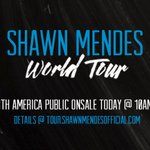 #ShawnWorldTourOnsale today for most North American dates tweet if ur going ! ????????❤️ https://t.co/uDSVucqZEf https://t.co/B5NF6ius6R
