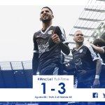 Full-time: Manchester City 1-3 Leicester City #MncLei https://t.co/rRK3epiKhl