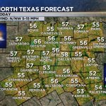 N TX FCST: Scatd AM showers E & NE of DFW. Decr. clouds this aftn. Highs in the 50s. Wind: N/NW 5-15 mph. #dfwwx https://t.co/NAvb9aKFcy