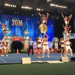 Beautiful heel stretches by the Blaze of Blackman HS in the Small Varsity Coed Semi-Finals! #UCAnationals https://t.co/lpkOlNjQcf