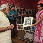 PM Modi at the Art&Craft and Khadi Exhibition at #InternationalFleetReview2016 Venue !! https://t.co/uNI4vB78hj
