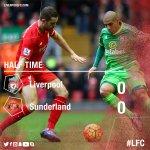 HALF-TIME: Its goalless at the break between #LFC and @SunderlandAFC https://t.co/1k3M73nE2N
