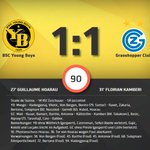 Das Matchtelegramm YB - GC. #BSCYB https://t.co/KCLBGtNEfX